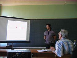 Защита диплома Энциклопедия МИФИ Защита диплома на ТЯФе Диплом защищает Виктор Баранов